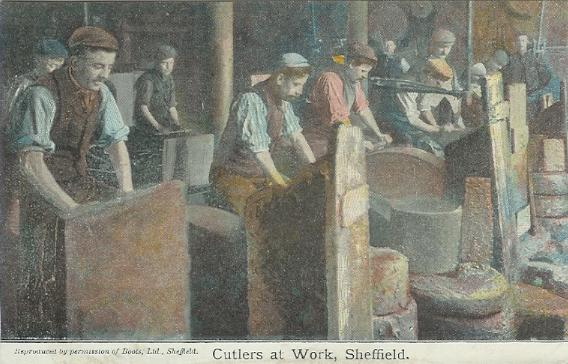 Cutlers at Work, Sheffield - Courtesy of J. Perkins