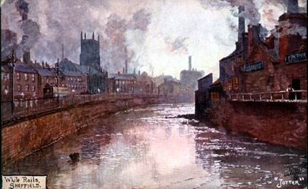 Nursery Street and River Don, Holy Trinity Church, s12211