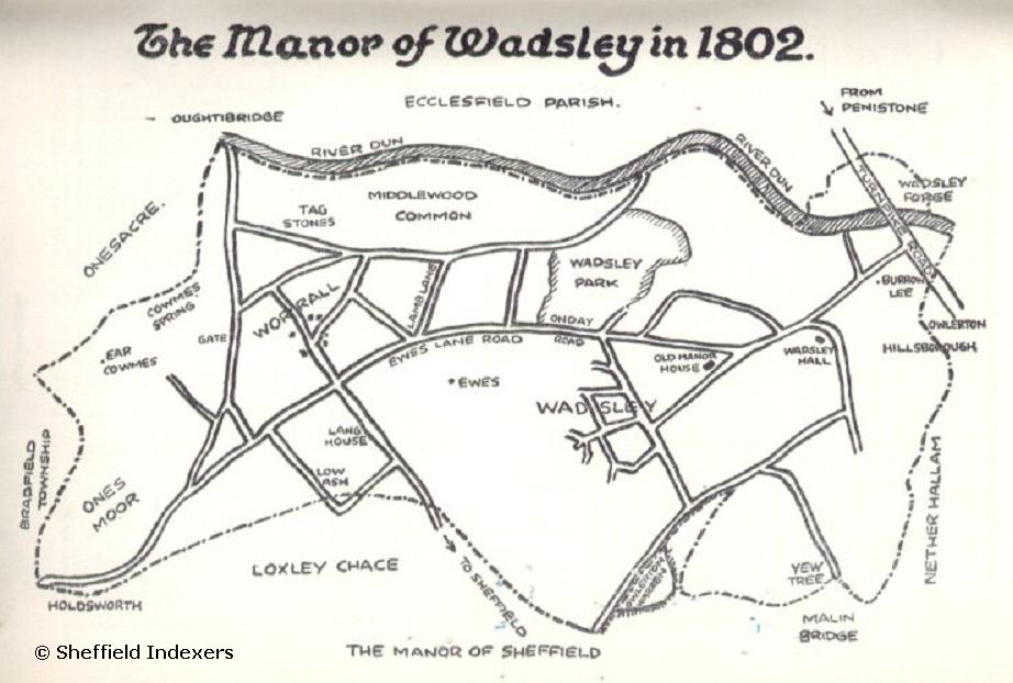 Click to Enlarge - Wadsley Manor circa 1802 - courtesy of Ann Halford